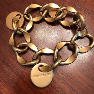 Dyrberg/Kern Gold link bracelet